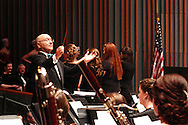 2013 ArtsGala chair, and guest conductor, Mike Ervin leads the WSU Wind Symphony during the 14th Annual ArtsGala at Wright State University's Creative Arts Center, Saturday, April 6, 2013.
