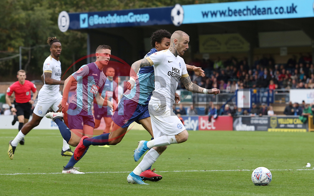 Marcus Maddison of Peterborough United in action against Wycombe Wanderers - Mandatory by-line: Joe Dent/JMP - 05/10/2019 - FOOTBALL - Adam's Park - High Wycombe, England - Wycombe Wanderers v Peterborough United - Sky Bet League One