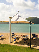 Relaxing at the beach, Daydream Island; Whitsunday Islands, QLD, Australia