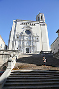 Girona, Cathedral, Historic centre, Catalonia, Spain