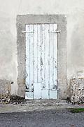 old wooden door shutters