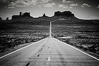 Highway 163 in Monument Valley, Arizona.