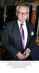 Historian DAVID STARKEY at a reception in London on 16th March 2004.PSK 112
