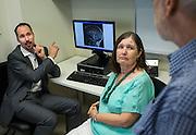 Neuroscientist Dr Eamonn Eeles with Eileen and Dough Taylor