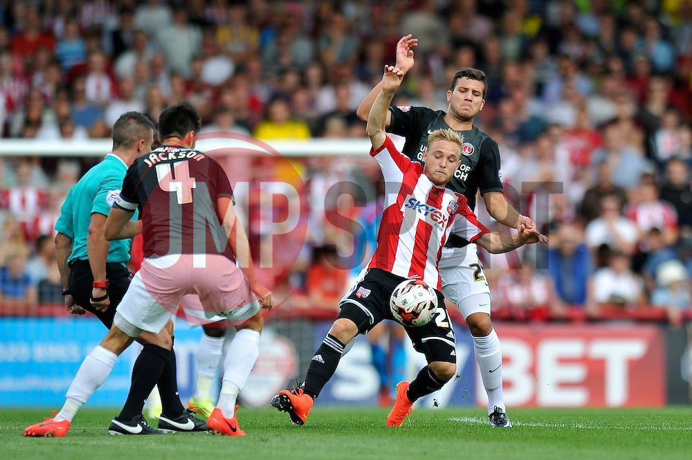 Brentford's Alex Pritchard - Photo mandatory by-line: Patrick Khachfe/JMP - Mobile: 07966 386802 09/08/2014 - SPORT - FOOTBALL - Brentford - Griffin Park - Brentford v Charlton Athletic - Sky Bet Championship - First game of the season