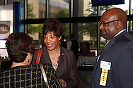 (from right) Donerik Black of Unified Health Solutions and Paula Cosby of Clothes That Work during the Better Business Bureau's Eclipse Integrity Awards dinner at Sinclair Community College's Ponitz Center in downtown Dayton, Tuesday, May 14 2013.