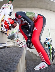 03.01.2015, Bergisel Schanze, Innsbruck, AUT, FIS Ski Sprung Weltcup, 63. Vierschanzentournee, Innsbruck, Training, im Bild Richard Freitag (GER) // Richard Freitag of Germany before his second practice jump of 63rd Four Hills Tournament of FIS Ski Jumping World Cup at the Bergisel Schanze in Innsbruck, Austria on 2015/01/03. EXPA Pictures © 2015, PhotoCredit: EXPA/ JFK