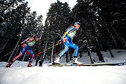Olga Zaitseva of Russia and Anna Carin Zidek of Sweden during the Mixed 2x6 + 2x7,5km relay of the e.on IBU Biathlon World Cup on Saturday, December 19, 2010 in Pokljuka, Slovenia. The fourth e.on IBU World Cup stage is taking place in Rudno polje - Pokljuka, Slovenia until Sunday December 19, 2010. (Photo By Vid Ponikvar / Sportida.com)