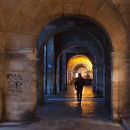 Paris. France. Le Marais. 4th district.  Place des Vosges arches / les arches de la place des Vosges