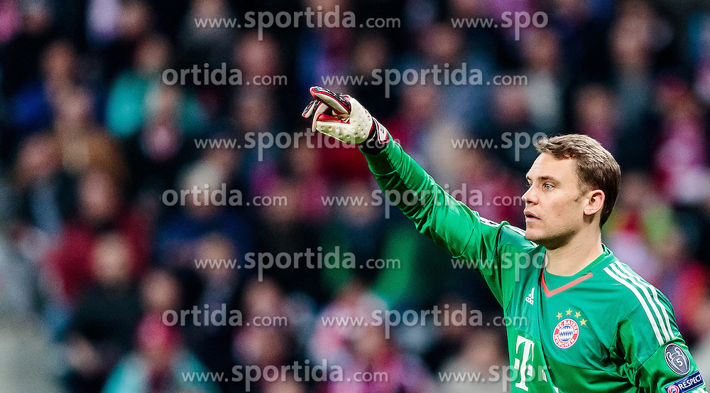 03.05.2016, Allianz Arena, Muenchen, GER, UEFA CL, FC Bayern Muenchen vs Atletico Madrid, Halbfinale, Rueckspiel, im Bild Manuel Neuer (FC Bayern Muenchen) // Manuel Neuer (FC Bayern Muenchen) during the UEFA Champions League semi Final, 2nd Leg match between FC Bayern Munich and Atletico Madrid at the Allianz Arena in Muenchen, Germany on 2016/05/03. EXPA Pictures © 2016, PhotoCredit: EXPA/ JFK