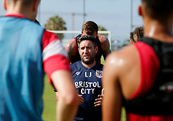 Bristol City head coach Lee Johnson talks with his players during training - Mandatory by-line: Matt McNulty/JMP - 20/07/2017 - FOOTBALL - Tenerife Top Training Centre - Costa Adeje, Tenerife - Pre-Season Training
