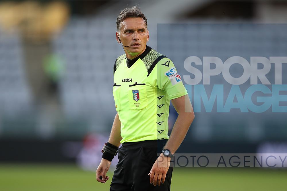 The referee Massimiliano Irrati during the Serie A match at Stadio Grande Torino, Turin. Picture date: 20th June 2020. Picture credit should read: Jonathan Moscrop/Sportimage