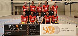 20160915 NED: Kootfin Taurus 2016 - 2017, Houten<br />Bovenste rij: (L-R) Jorad de Vries (6), Dylan Boerefijn (7), Hans van Westrienen (8) Jelle van Jaarsveld (11) en Thijs Bouman (14)<br />Middelste rij (L-R) Jeroen …… (assistant coach), Marian Groot Koerkamp (datavolley), Josien Leurdijk (teammanager), Erik Gras (hoofdcoach)<br />Onderste rij (L-R) Bert Sturkenboom (1), Tom van den Boogaard (2), Mats Bleeker (4), Martijn de Haan (3), Flor Polinder (5).