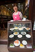 Insa-dong. Plastic menu samples.