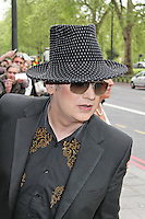 LONDON - MAY 17: Boy George attends the 'Ivor Novello Awards' at the Grosvenor House Hotel, London, UK. May 17, 2012. (Photo by Richard Goldschmidt)