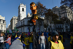Jun 17, 2017 - Buenos Aires, Argentina - Catholics take part in the Corpus Christi procession near the Plaza de Mayo. (Credit Image: © Anton Velikzhanin via ZUMA Wire)