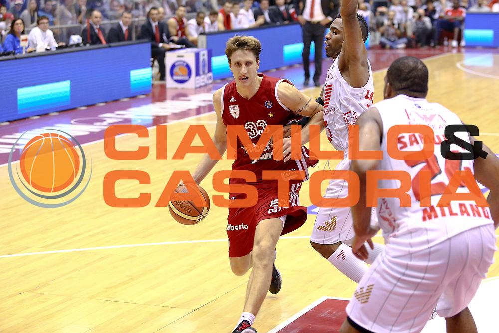 DESCRIZIONE : Milano Lega A 2013-14 EA7 Emporio Armani Milano Cimberio Varese<br /> GIOCATORE : Polonara Achille<br /> CATEGORIA : Palleggio<br /> SQUADRA : Cimberio Varese<br /> EVENTO : Campionato Lega A 2013-2014<br /> GARA : EA7 Emporio Armani Milano Cimberio Varese<br /> DATA : 20/10/2013<br /> SPORT : Pallacanestro <br /> AUTORE : Agenzia Ciamillo-Castoria/I.Mancini<br /> Galleria : Lega Basket A 2013-2014  <br /> Fotonotizia : Milano Lega A 2013-14 EA7 Emporio Armani Milano Cimberio Varese<br /> Predefinita :