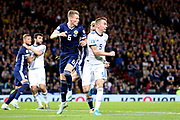 Scotland midfielder Scott McTominay (6) (Manchester United) and Andrey Semenov of Russia (5) (Akhmat Grozny) during the UEFA European 2020 Qualifier match between Scotland and Russia at Hampden Park, Glasgow, United Kingdom on 6 September 2019.