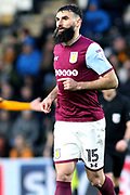 Aston Villa midfielder Mile Jedinak (15)  during the EFL Sky Bet Championship match between Hull City and Aston Villa at the KCOM Stadium, Kingston upon Hull, England on 31 March 2018. Picture by Mick Atkins.