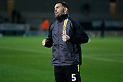Jake Buxton warms up before the EFL Sky Bet League 1 match between Burton Albion and Southend United at the Pirelli Stadium, Burton upon Trent, England on 3 December 2019.