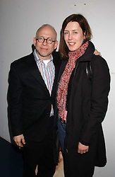 "BOB BALABAN and actress GINA McKEE at an after show party for ""The Exonerated"" at The Riverside Studios, Crisp Road, Hammersmith, London on 24th February 2006.<br />