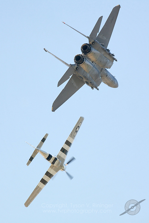 Heritage Flight, P-51, F-15E