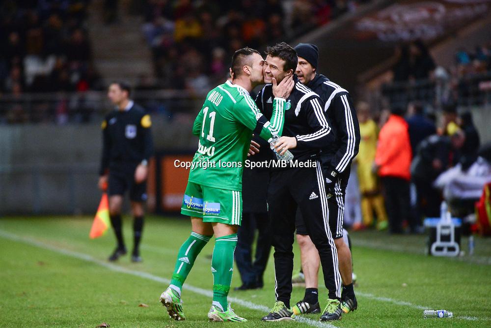 Joie Yohan MOLLO   - 10.01.2015 - Reims / Saint Etienne - 20eme journee de Ligue 1<br />Photo : Dave Winter / Icon Sport