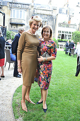 Left to right, MARGARET LEVIN and DEBORAH BENNETT at a reception hosted by the Friends of the Castle of Mey held at the Goring Hotel, Beeston Place, London on 22nd May 2012.
