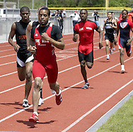 Trotwood is leading and following Stivers after the first lap of the 800 Meter Run during the Buff Taylor Memorial Track & Field Invitational at the Good Samaritan Sports Plex at Trotwood Madison High School, Saturday, May 10, 2008.