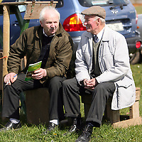 Joe McGuane and Tom O' Gorman enjoying the sunshine at the first County Clare Hunt point to point in Cahergal, Newmarket-on-Fergus on Easter Sunday.<br /> Photograph by Yvonne Vaughan