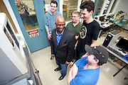 P1112-062, Computer Aided Mechanical Design, Instructor Christian Ochei and students on March 19, 2012 at Tri-C Metro Campus UTC building.