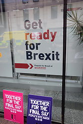 Brexit People's Vote march, London 19 October 2019 UK - Government Get Ready for Brexit industry information in Victoria Street