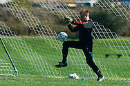 CVU goalie Goarge Davis (0) makes a save during the boys soccer game between the Champlain Valley Union Redhawks and the Essex Hornets at Essex High School on Saturday mooring October 10, 2015 in Essex. (BRIAN JENKINS/For the FREE PRESS)