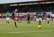 27th August 2017, Dens Park, Dundee, Dundee; Scottish Premier League football, Dundee versus Hibernian; Dundee's Kevin Holt scores from the penalty spot
