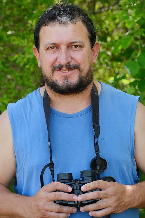 Ranger and field officer Todor Mitkov, wildlife watching, ecotourism, Plevun, Eastern Rhodope mountains, Bulgaria