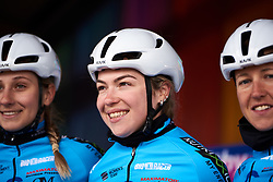 Lucy Garner (GBR) at sign on for Healthy Ageing Tour 2019 - Stage 3, a 124 km road race starting and finishing in Musselkanaal, Netherlands on April 12, 2019. Photo by Sean Robinson/velofocus.com