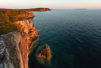 Late afternoon view of part  Indian Head Cove Bruce Peninsula National Park, Ontario, Canada