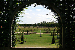 UK ENGLAND SURREY HAMPTON COURT PALACE 19JUL04 - General view of the Privvy Garden at Hampton Court Palace. The Palace and its famous royal gardens were founded by King Henry VIII in the sixteenth century and were developed through the centuries by subsequent sovereigns, determined to have the most fashionable and elegant gardens of their era. 2004 is the Year of the Garden at Hampton Court Palace and it is celebrated by a series of special events like the Tudor-costumed garden tours.....jre/Photo by Jiri Rezac ....© Jiri Rezac 2004....Contact: +44 (0) 7050 110 417..Mobile:  +44 (0) 7801 337 683..Office:  +44 (0) 20 8968 9635....Email:   jiri@jirirezac.com..Web:    www.jirirezac.com....© All images Jiri Rezac 2004 - All rights reserved.