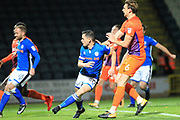 GOAL Ian Henderson scores his second for Rochdale 2-0 during the EFL Sky Bet League 1 match between Rochdale and Northampton Town at Spotland, Rochdale, England on 17 October 2017. Photo by Daniel Youngs.