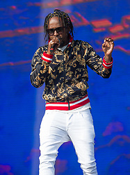 Popcaan performs on stage on day 2 of All Points East festival in Victoria Park in London, UK. Picture date: Saturday 26 May 2018. Photo credit: Katja Ogrin/ EMPICS Entertainment.