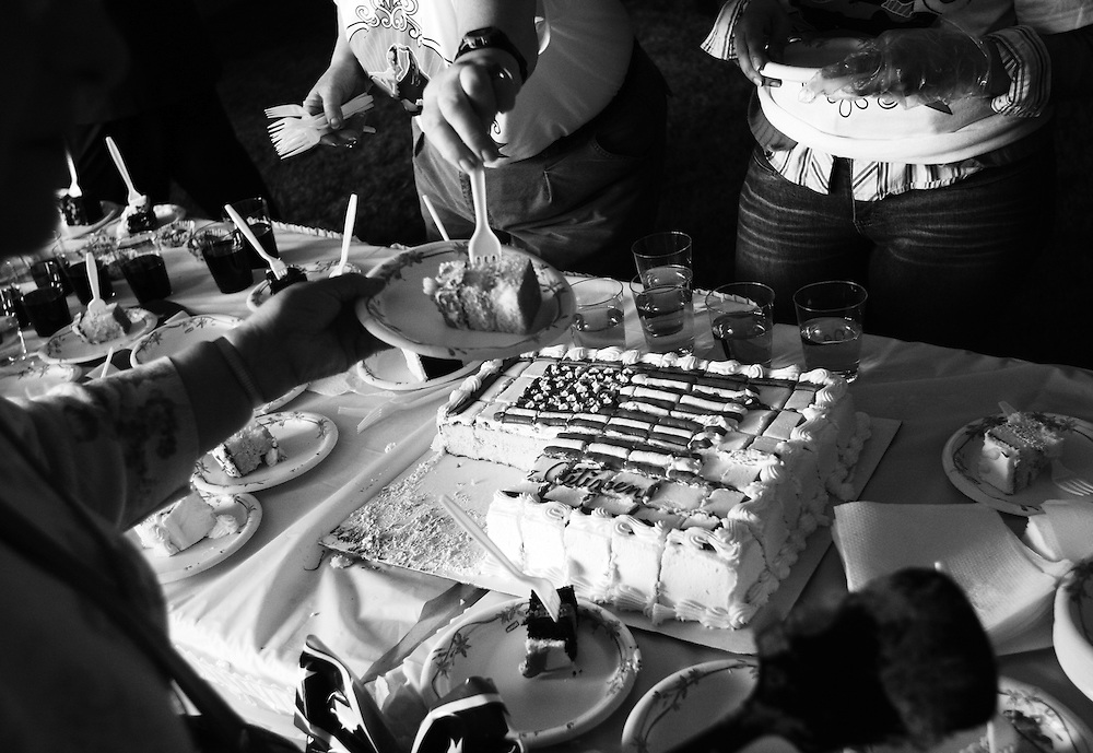 Mmm, yummy cake greets residents becoming new American citizens in a naturalization ceremony during Portland's Cinco de Mayo festivities.