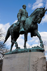 A statue of Confederate General Robert E. Lee is the center piece of Lee Park in Charlottesville, Virginia on February 19, 2008.