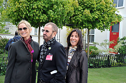 BARBARA BACH, RINGO STAR and OLIVIA HARRISON at the RHS Chelsea Flower Show 2009 held inthe gardens of the Royal Hospital Chelsea on 18th May 2009.