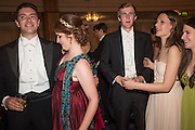 THEO VICAT; GINA COLQUHOUN; CHRIS STARKEY; CORRINA HORAN; JULIETTE GINSBERG, The Royal Caledonian Ball 2015. Grosvenor House. Park Lane, London. 1 May 2015.