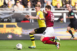 19.10.2013, Signal Iduna Park, Dortmund, GER, 1. FBL, GER, 1. FBL, Borussia Dortmund vs Hannover 96, 9. Runde, im Bild Zweikampf zwischen Marco Reus (#11 Dortmund), Sebastien Pocognoli (#18 Hannover) // during the German Bundesliga 9th round match between Borussia Dortmund and Hannover 96 Signal Iduna Park in Dortmund, Germany on 2013/10/19. EXPA Pictures &copy; 2013, PhotoCredit: EXPA/ Eibner-Pressefoto/ Kurth<br /> <br /> *****ATTENTION - OUT of GER*****