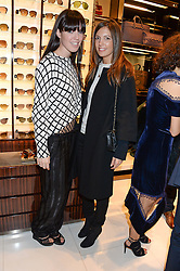 Left to right, NICKY HUNTER and AMANDA FERRY at a party hosted by Gucci & Clara Paget to drink a new cocktail 'I Bamboo You' held at Gucci, 34 Old Bond Street, London on 16th October 2013.