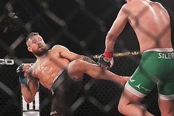 December 30, 2018 - United States - Lance Palmer of Las Vegas (USA) defeated Steven Siler of Utah (USA) and took $ 1 million during the 145 Featherweight category  of PFL 2018 at Hulu Theater-Madison Square, New York. (Credit Image: © Niyi Fote/Pacific Press via ZUMA Wire)