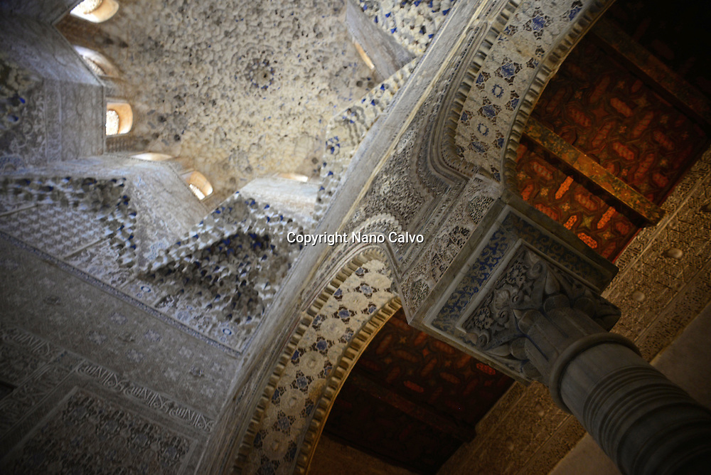 Palace of the Lions (Palacio de los Leones) at The Alhambra, palace and fortress complex located in Granada, Andalusia, Spain