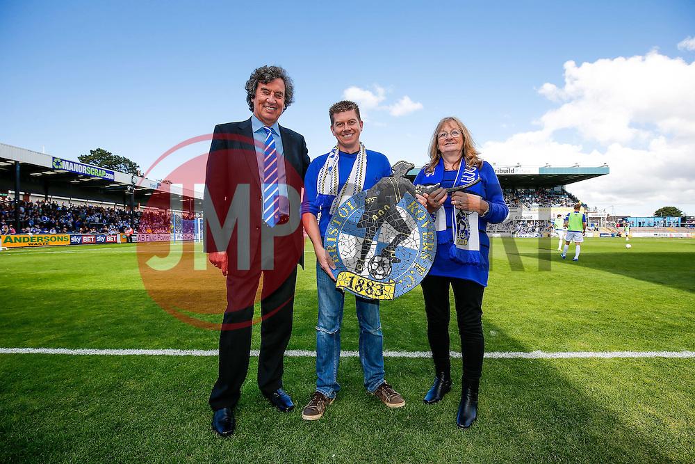Half Time masic Bristol Rovers crest presentation - Mandatory byline: Rogan Thomson/JMP - 07966 386802 - 12/09/2015 - FOOTBALL - Memorial Stadium - Bristol, England - Bristol Rovers v Accrington Stanley - Sky Bet League 2.
