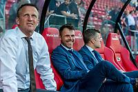 ALKMAAR - 25-05-2017, AZ, - FC Utrecht, AFAS Stadion, 3-0, AZ trainer John van den Brom, Assistent trainer Dennis Haar
